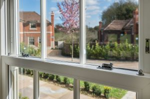 Heritage ssh window with views of garden